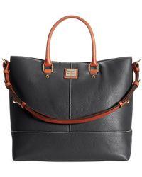 Dooney & Bourke | Black Pebble Chelsea Shopper | Lyst