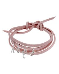 Dalla Nonna | Pink Little Letter Wrap Bracelet In Rose Gold | Lyst