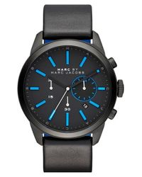 Marc Jacobs | Black 'dillon' Chronograph Bracelet Watch | Lyst