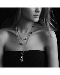David Yurman | Purple Cable Wrap Pendant Diamonds | Lyst