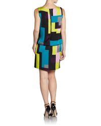 MILLY | Multicolor Gianna Silk Dress | Lyst