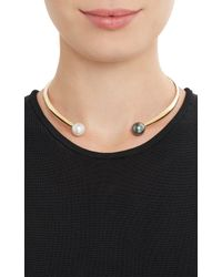 Ana Khouri - Metallic Pearl Gold Jane Collar Necklace - Lyst