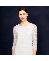 J.Crew - White Collection Scalloped Lace Dress - Lyst