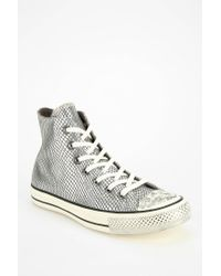 Converse - Metallic Chuck Taylor Scaled Leather Womens Hightop Sneaker - Lyst