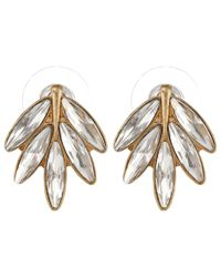 Sam Edelman - Metallic Cloud Nine Feather Stud Earring - Lyst