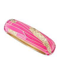 Sequin - Pink Wide Insect-wing Bangle - Lyst