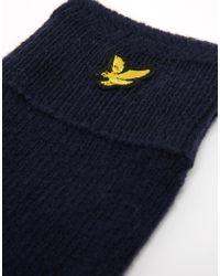 Lyle & Scott - Blue Racked Rib Gloves for Men - Lyst