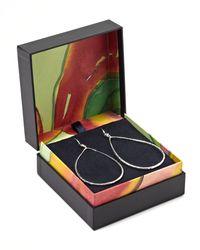 Ippolita - Metallic Open Teardrop Earrings With Diamonds - Lyst