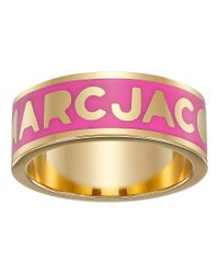 Marc By Marc Jacobs | Pink Logo Disc-o Logo Band Ring | Lyst
