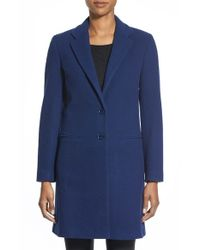 Charles Gray London | Blue Wool Blend College Coat | Lyst