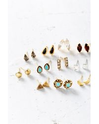 Urban Outfitters | Metallic Mega Post Earring Set | Lyst