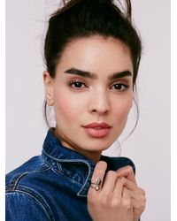 Free People | Metallic Deputy Stone Ring | Lyst