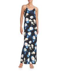 Karen Kane | Blue Floral Maxi Dress | Lyst