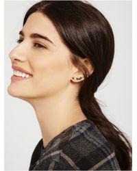 BaubleBar | Metallic 14k Yellow Gold Petal Bar Earring | Lyst