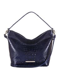 Brahmin | Blue Harrison Embossed Hobo Bag | Lyst