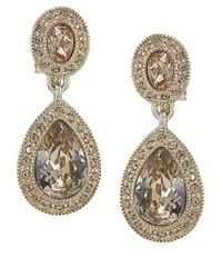 Carolee | Metallic The Bridget Crystal Double Drop Earrings | Lyst