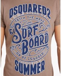DSquared² | Brown Logo T-shirt for Men | Lyst