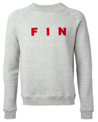 Band of Outsiders | Gray 'Fin' Crew Neck Sweatshirt for Men | Lyst