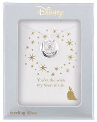 Disney - Metallic Engraved Cinderella Carriage Pendant Necklace In Sterling Silver - Lyst