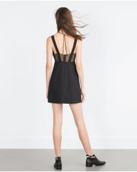 Zara | Black Lace Dress | Lyst
