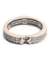 Diamonds Unleashed - Pink #she'sbrilliant Empowerment 18k Rose Gold Diamond Ring - Lyst