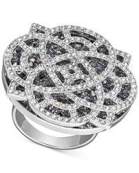 Swarovski | Metallic Rhodium-plated Crystal Filigree Ring | Lyst