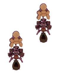 EK Thongprasert | Purple 3tier Drop Round Jewel Earring | Lyst
