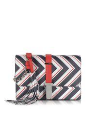 Pinko | Triathlon Multicolor Striped Leather Shoulder Bag | Lyst
