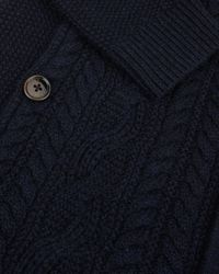 Ted Baker | Blue Cable Knit Funnel Neck Sweater for Men | Lyst