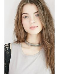 Forever 21 | Metallic Hinged Cutout Choker | Lyst