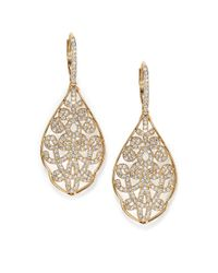 Adriana Orsini | Metallic Garden Gate Pavé Crystal Filigree Large Drop Earrings/goldtone | Lyst