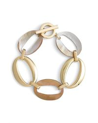 Anne Klein | Metallic Link Toggle Bracelet | Lyst
