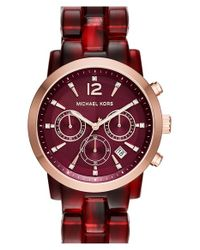 MICHAEL Michael Kors - Purple 'audrina' Chronograph Bracelet Watch - Lyst