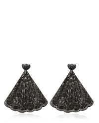 Mariah Rovery | Black Brinco Leque Earrings | Lyst