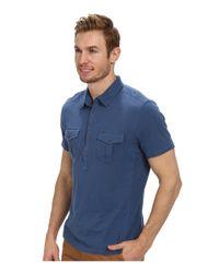Calvin Klein Jeans - Blue S/S Two-Pocket Polo Pigment Dye for Men - Lyst