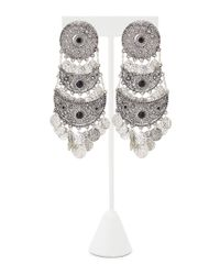 Forever 21 - Metallic Etched Coin Chandelier Earrings - Lyst