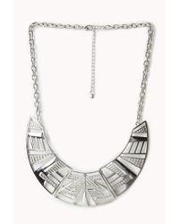 Forever 21 - Metallic Tribal Pattern Bib Necklace - Lyst