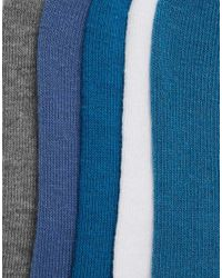 ASOS - Multicolor 5 Pack Invisible Socks Save 47% for Men - Lyst
