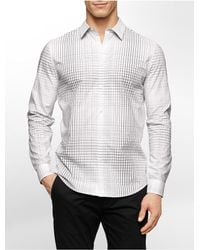 Calvin Klein - White Label Slim Fit Large Scale Grid Cotton Shirt for Men - Lyst