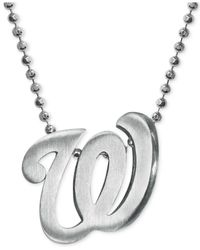 Alex Woo - Metallic Mlb Collection By Sterling Silver Washington Nationals Pendant Necklace - Lyst