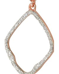 Monica Vinader - Pink Riva Rose Gold-Plated Diamond Earrings - Lyst
