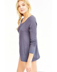 Truly Madly Deeply | Gray Wild Oats Thermal Top | Lyst