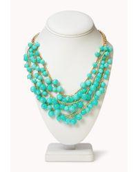 Forever 21 | Blue Boho Beauty Beaded Necklace | Lyst