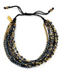 Chan Luu - Black Multi Strand Seed Bead Bracelet - Lyst