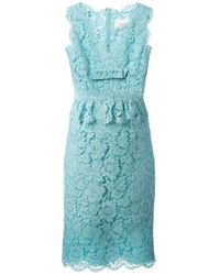 Valentino | Blue Sleeveless Lace Dress | Lyst