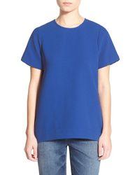 Madewell - Blue Pleated Short Sleeve Tee - Lyst