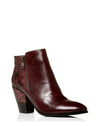 Moda In Pelle | Red Leonor Medium Smart Short Boots | Lyst