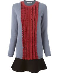 Valentino - Pink Pleated Front Knit Dress - Lyst