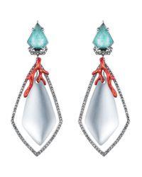 Alexis Bittar - Blue Lucite Bedarra Clip-On Earrings - Lyst