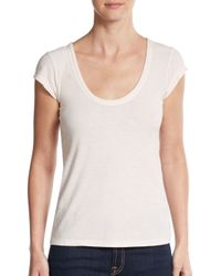 James Perse - Pink Stretch Jersey Tee - Lyst